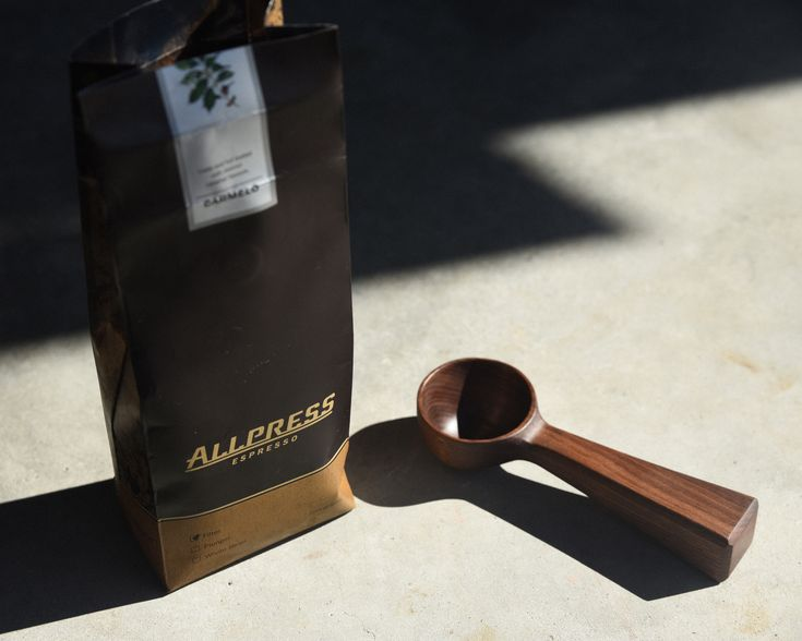 Great coffee scoop. Finished with food-safe oil & organic beeswax. Hand burnished.