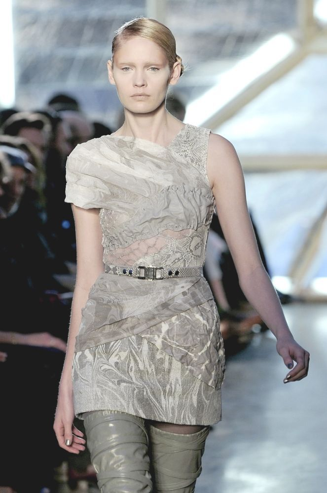 RODARTE Pale Grey Marbled Silk Leather Lace Dress 4  6 in Kleidung & Accessoires, Damenmode, Kleider | eBay!