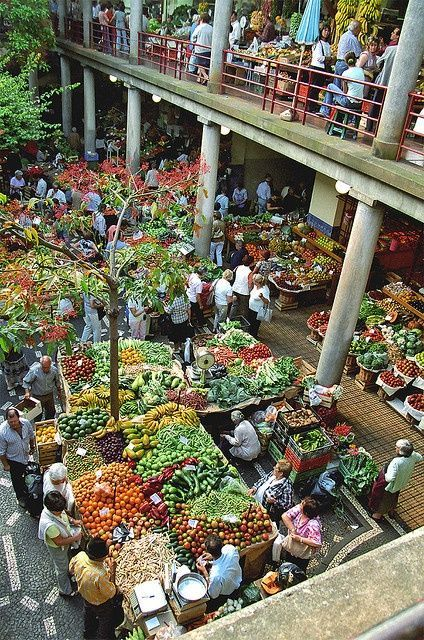 Madeira Island - City of Funchal Market Hall, Portugal - Fruit and Veg market, all local, all organic!