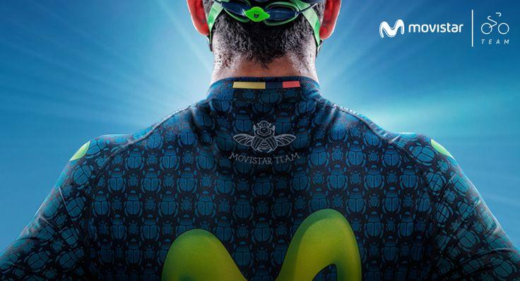 El Movistar Team América llevará en su uniforme la imagen del escarabajo como homenaje a los ciclistas #VamosPorTodo