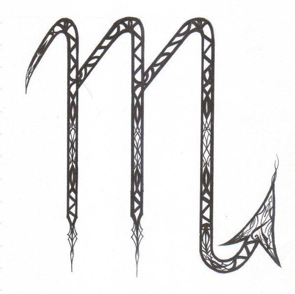 Scorpio Symbol M Scorpio symbol.