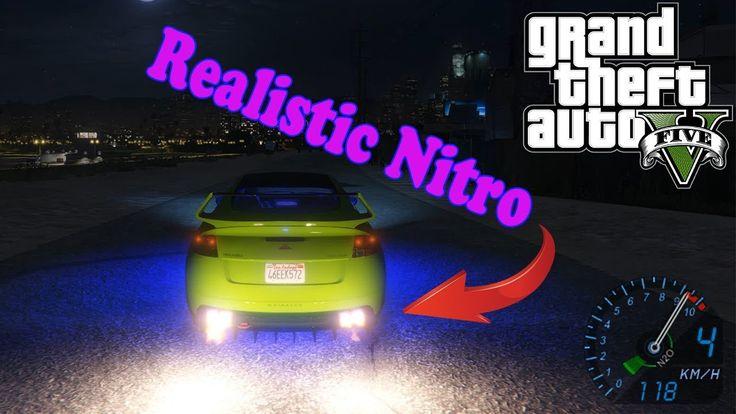 Нитро ускорения для GTA 5! (Realistic Nitro)