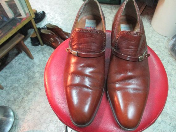 Scarpe da uomo marroni.  1970.Made in England/ by FermataDautobus