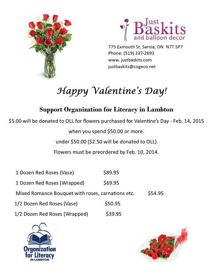 Organization For Literacy  Valentine Flowers!