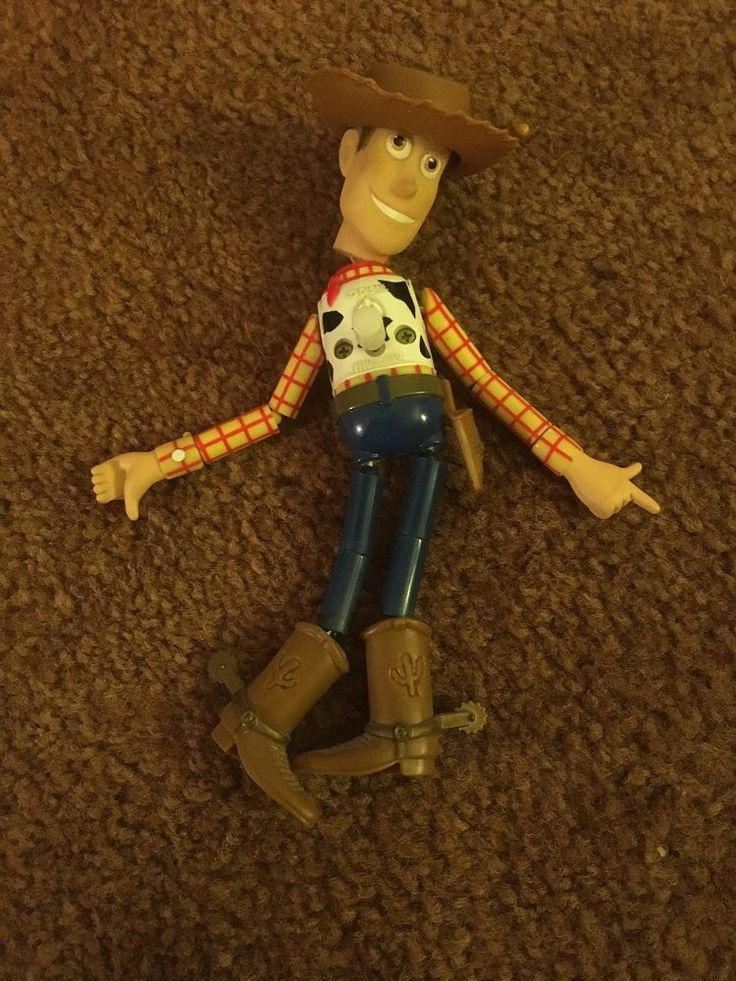 Push Button Collapsing Sheriff Woody Figure Toy Story Pixar Disney Thinkway #ThinkwayToys