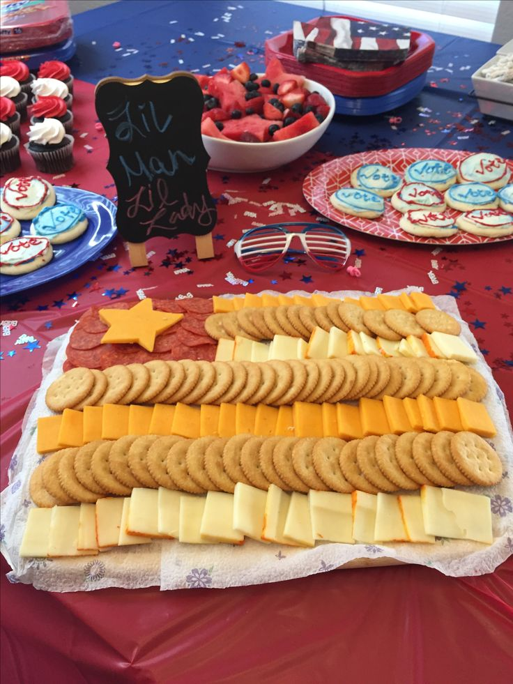 Gender reveal finger foods! 4th of July themed!