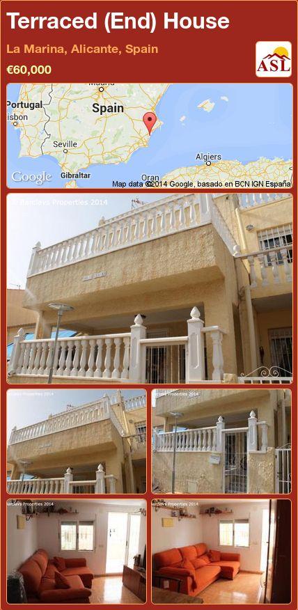 Terraced (End) House in La Marina, Alicante, Spain ►€60,000 #PropertyForSaleInSpain