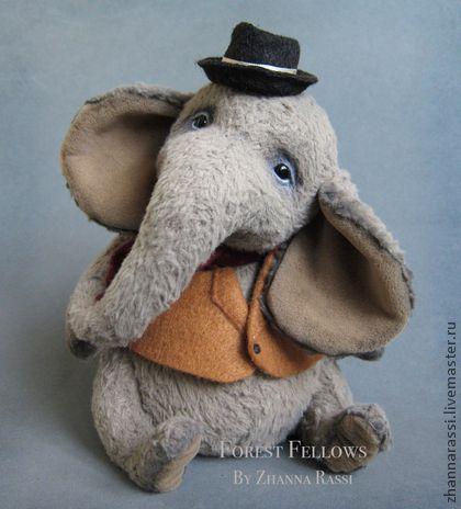 Мишки Тедди ручной работы. Ярмарка Мастеров - ручная работа Elephant. Handmade.