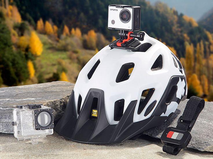 Somikon Full-HD-Action-Cam DV-850.WiFi mit LCD-Display, Fernbedienung