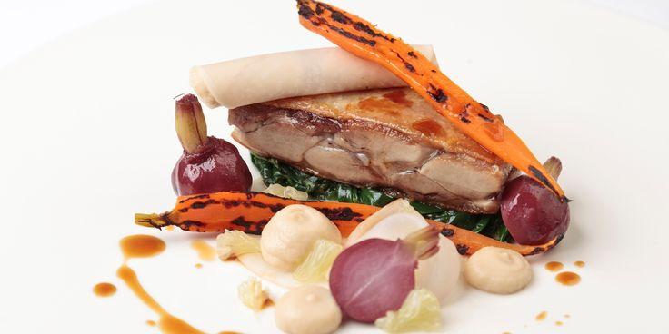 Matt Gillan's steamed duck leg recipe includes glazed carrots and pickled turnips