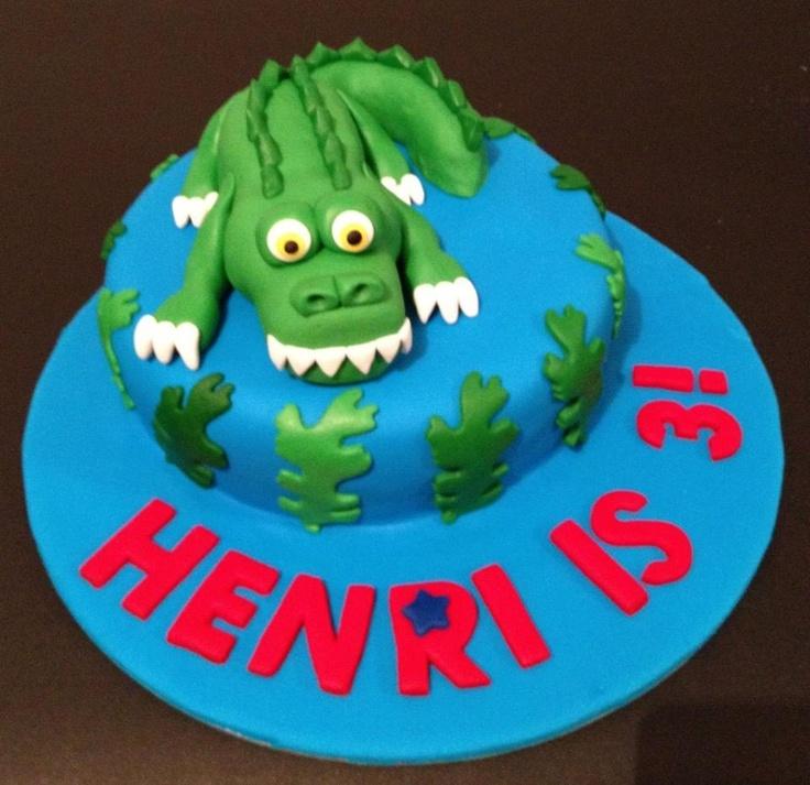 3 year old crocodile cake. For Personalised cake : celebratewithcake@rocketmail.com
