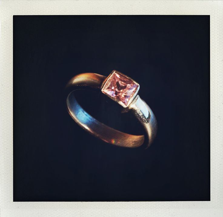 Silver ring with gemstone