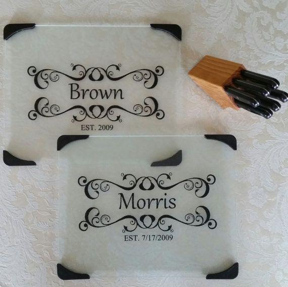 Personalized Cutting Board, Wedding Gift Cutting Board, Monogrammed Cutting…