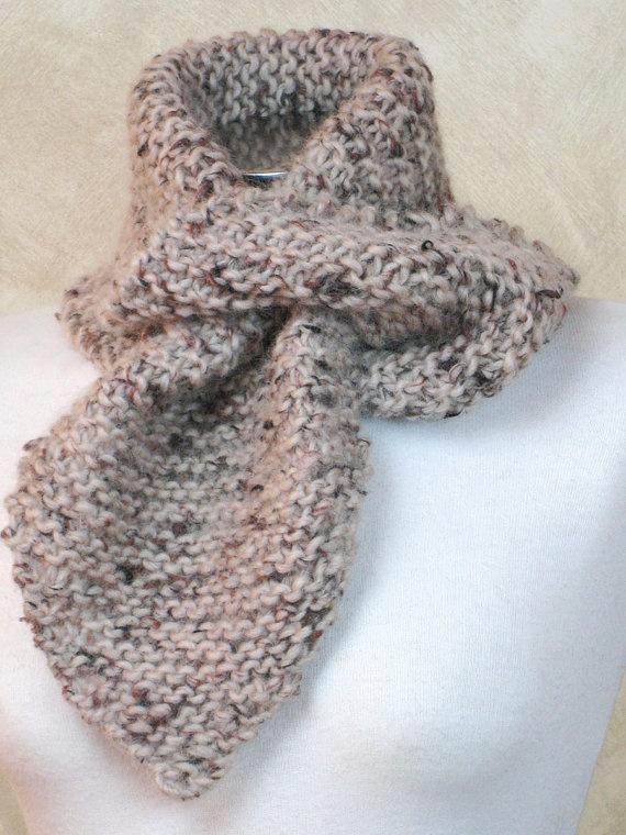 Knitted chunky scarf Neckwarmer by easycrochet on Etsy, $25.00