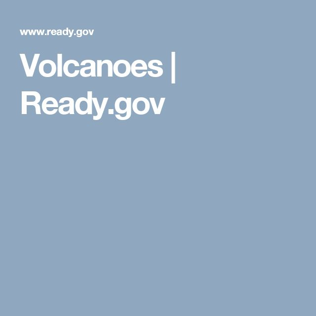 Volcanoes | Ready.gov
