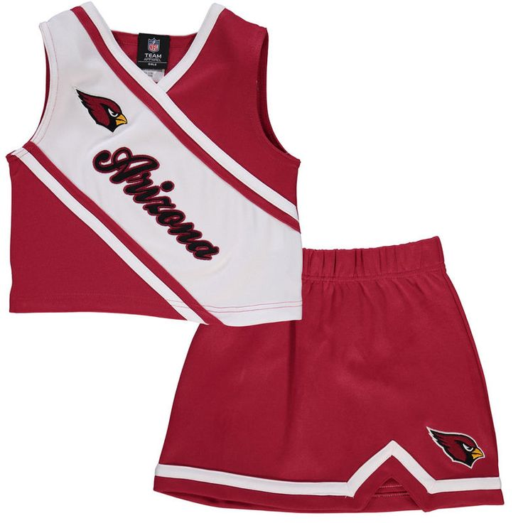 Arizona Cardinals Youth Girls Team Spirit 2-Piece Cheerleader Set - Cardinal