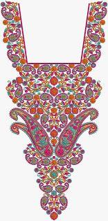 Indian Art Work Neck Embroidery Designs - Embdesigntube