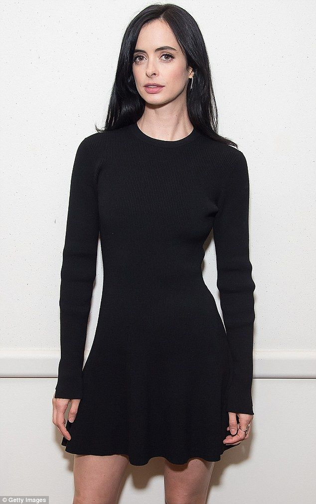 Looking amazing: Breaking Bad actress Krysten Ritter looks incredible as she puts on a leggy display in a little black dress at Comic Con in New York on Saturday