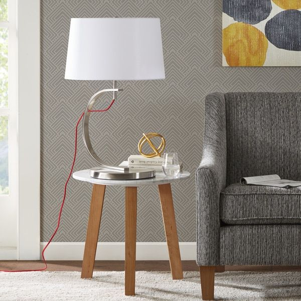 Madison Park Octavia Silver Table Lamp with Red Cord | Overstock.com Shopping - The Best Deals on Table Lamps