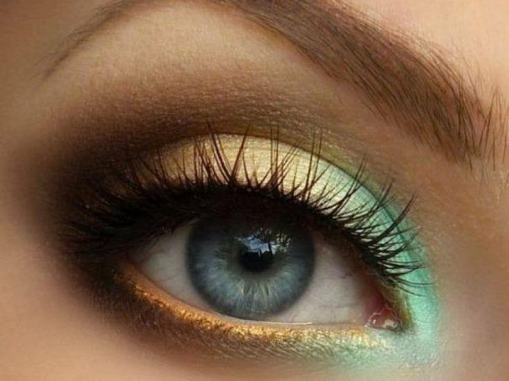 maquillage pour l'été en jaune et vert menthe