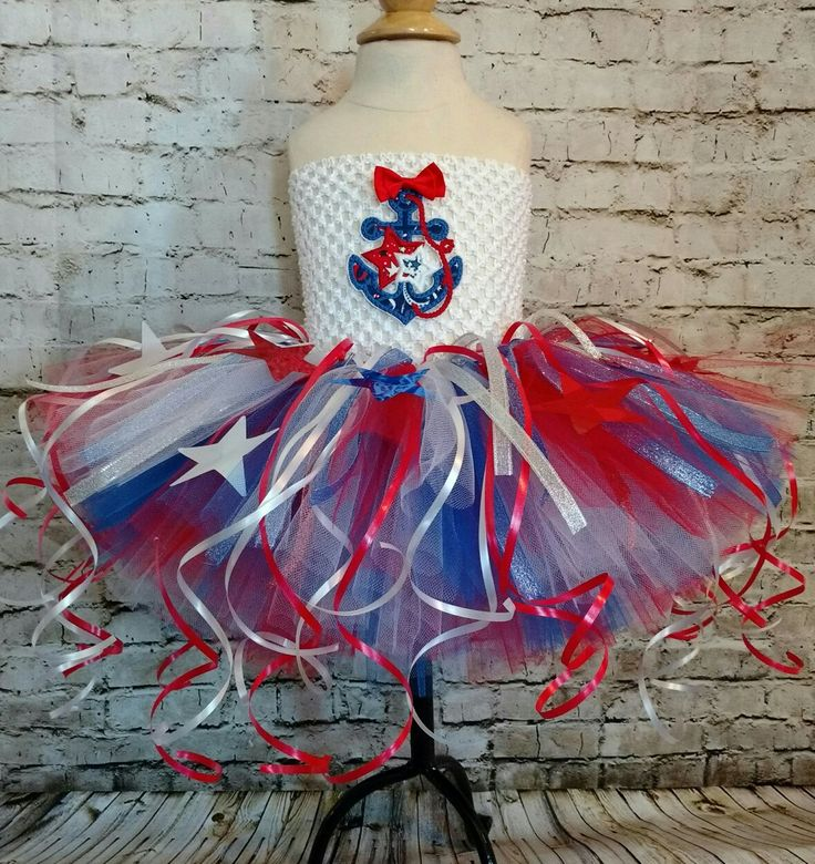 Babies first 4th of July tutu dress