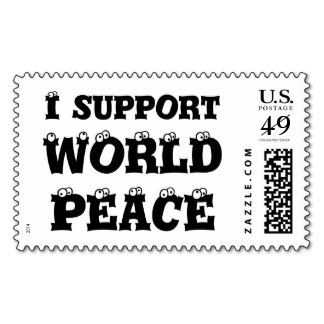 I SUPPORT WORLD PEACE Stamps :-) http://www.zazzle.com/i_support_world_peace_stamps_postage-172047294513718000  Postage