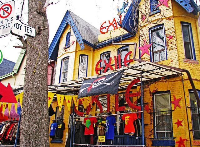 Kensington Market in Toronto is one of the funkiest neighborhoods in Canada - colorful #vintage shops like this are everywhere!