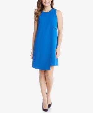 Karen Kane Asymmetrical Shift Dress - Blue XS
