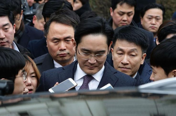 Lee Jae-Yong (Jay Y. Lee) vice chairman of Samsung leaves after attending a court hearing at the Seoul Central District Court on January 18 2017 in Seoul. (Chung Sung-Jun/Getty Images)  A district courts ruling Friday that the vice-chairman of Samsung Electronicscolluded with an embattled former president in corruption may tarnish the image of South Koreas best known company. However the sentence of Vice Chairman Jay Y. Lee marks a welcome step forward for South Koreans who have shownzero…