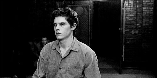 """Pin for Later: Evan Peters Is the Hottest Psycho on TV, and You Shouldn't Feel Bad About Your Attraction When Kit Walks Into a Room and Is Just Like, """"Yo, What Up?"""""""