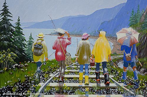 Rémi Clark, 'Les petits poissons', 24'' x 36'' | Galerie d'art - Au P'tit Bonheur - Art Gallery