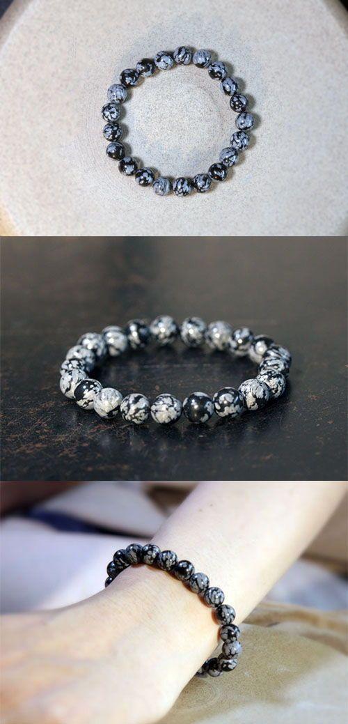 Alabaster Beaded Bracelet Handmade Gemstone Jewelry Gifts Women Men