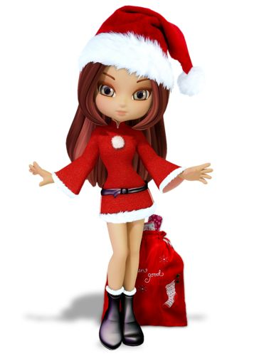 Free cute Christmas animated dolls