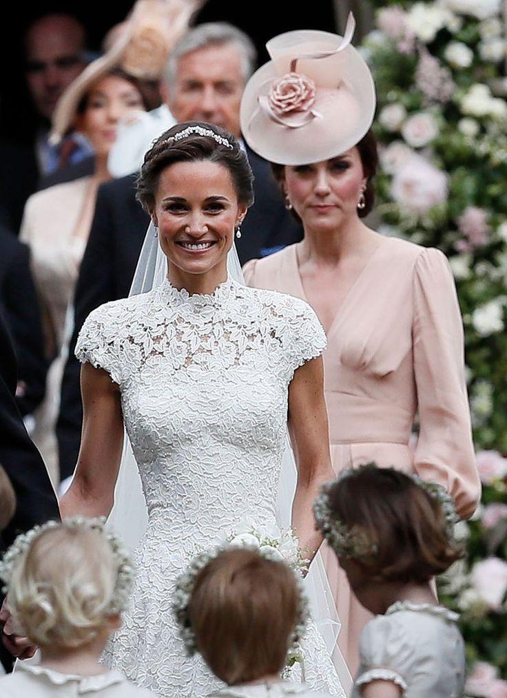 Pippa e Kate após a cerimônia (Foto: Getty Images)