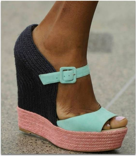 These block colour-styled wedge heels beauties will do with anything | StyleCaster