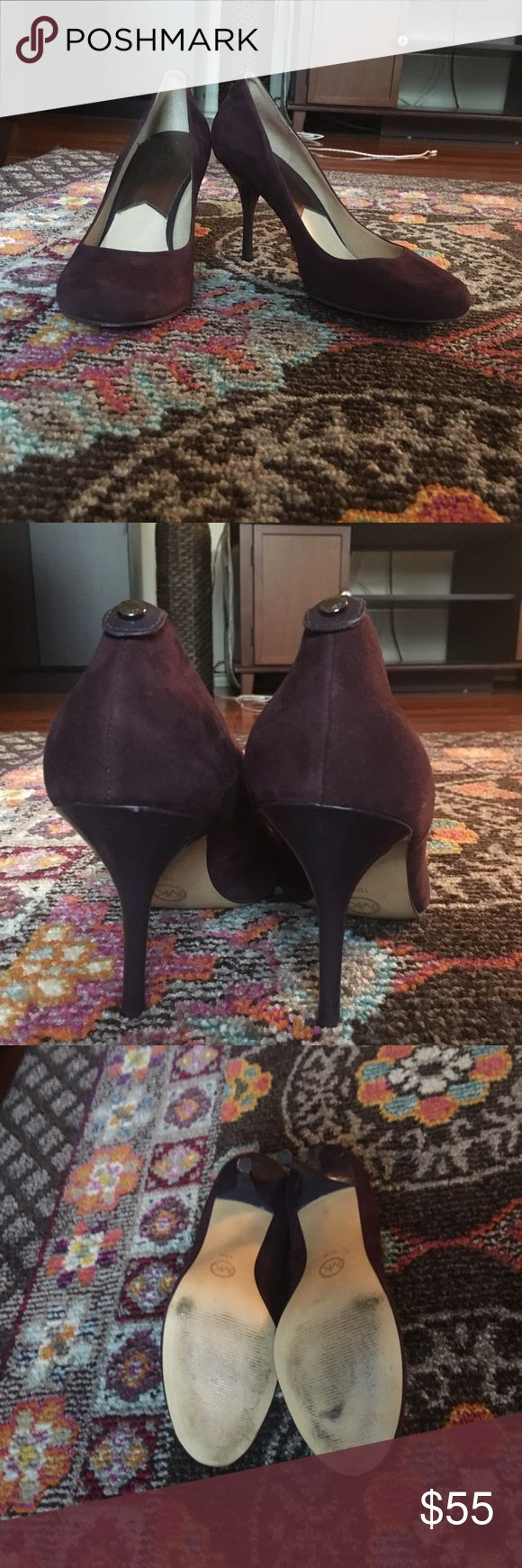 Plum suede Michael Kors heels size 10 These plum suede Michael kors heels are adorable and comfy. They are lightly worn (maybe 8 times ever) and in great condition. Size 10. Michael Kors Shoes Heels