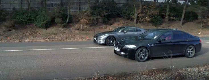 Nissan GT-R vs BMW M5 - Video Review - http://www.bmwblog.com/2014/08/07/nissan-gt-r-vs-bmw-m5-video-review/