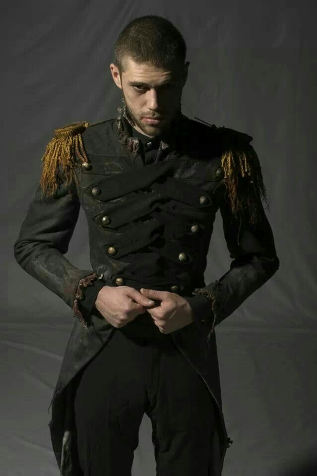 Uniform, steampunk style man in army jacket. Visit http://www.designyourownperfume.co.uk to create a cologne as unique as you are:)