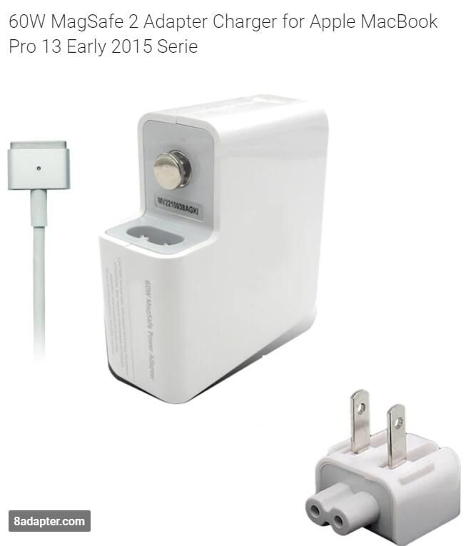 60W MagSafe 2 Adapter Charger Apple MacBook Pro 13 Early 2015 Serie