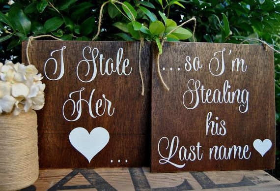 I SToLe HeR HeaRT  So I STole HiS LaST NaME  by LizzieandCoDesigns, etsy