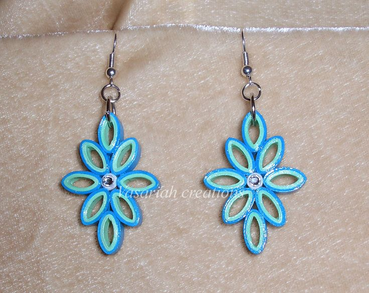 Quilled earrings | Crafts | Pinterest | Quilling Earrings, Quilling