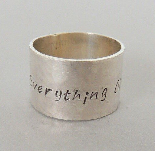 A personal favorite from my Etsy shop https://www.etsy.com/listing/130469461/personalized-sterling-silver-wide-band