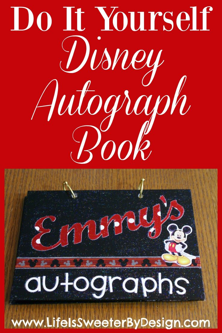 Make your own DIY autograph book for Disney World! It is easier then you think! A personalized autograph book is so fun for your child on vacation!
