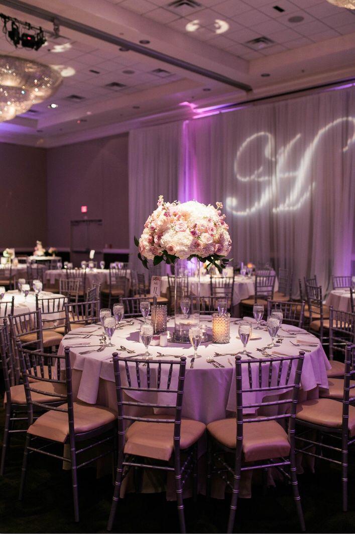 Wedding Reception At Piazza In The Village Pink Ballroom Wedding