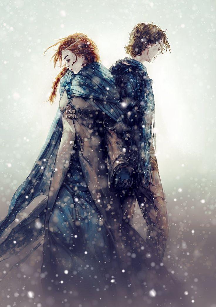 Game of Thrones Sansa and Theon by Allegro97.deviant on @DeviantArt