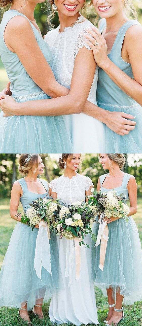 3ee6a3e3b09 Long Light Blue Bridesmaid Dresses With Pleated Zipper Asymmetrical  Colorful Bridesmaid Dresses by DestinyDress