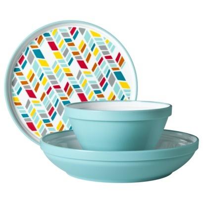 Teal Chevron Dinnerware  http://www.target.com/p/teal-chevron-dinnerware-set-of-12/-/A-14024533#