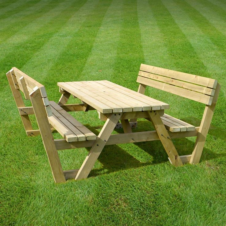 Lyddington picnic bench (available in rustic brown/light green and in sizes from 4ft - 8ft)