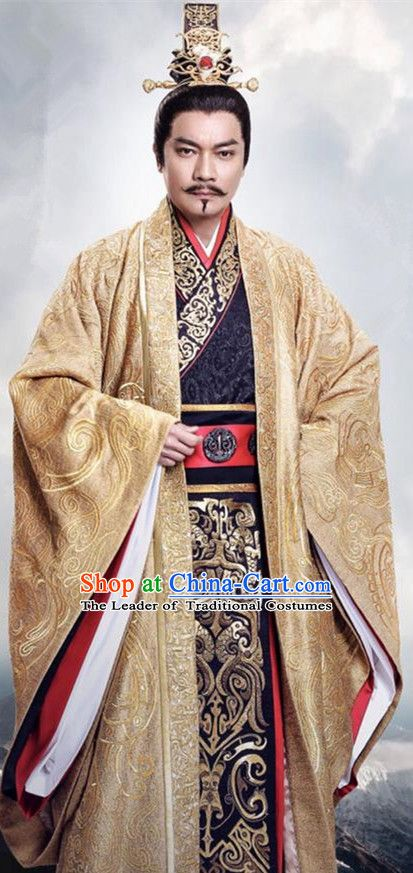 4cc7c980e0 Traditional Chinese Ancient Warring States Time Imperial Majesty Costume
