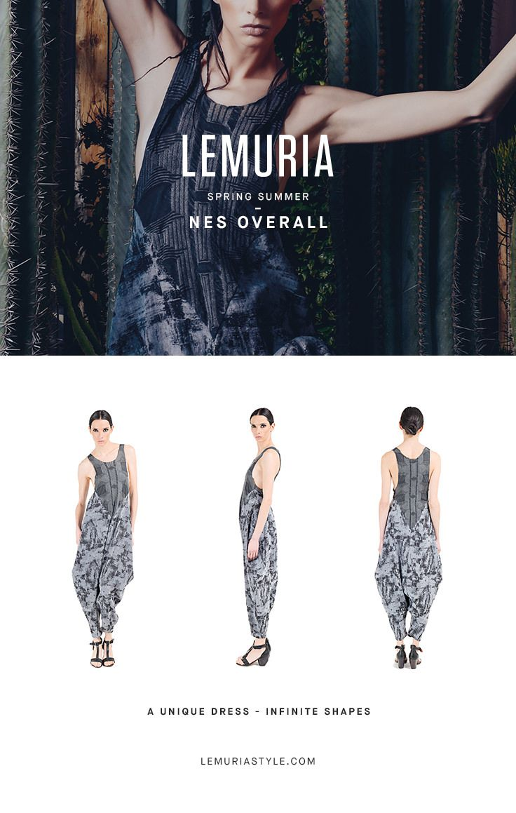 Overall in double textured fabric. #woman #clothing #multifunctional #dress #italy #brand #designclothing #design #italianbrand #boutique #cotton #jersey #lemuria #ss16 #collection #dress #overall #convertible #convertibledress #lemuria #lemuriaclothing #lemuriastyle